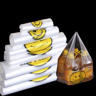 张记加厚笑脸塑料袋100只