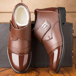 皮防滑高帮保暖棉鞋