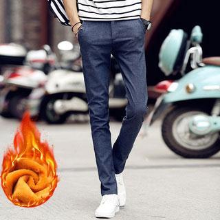 男士加绒加厚修身潮裤