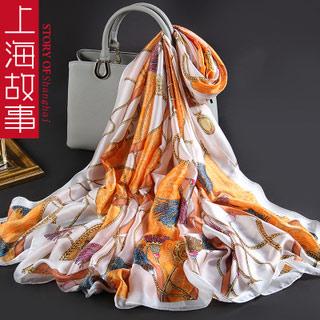 上海故事围巾超大丝巾