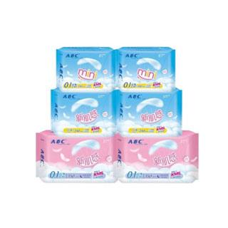 ABC新肌感卫生巾56片组合
