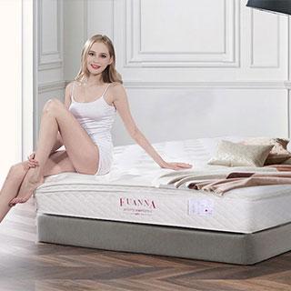 富安娜天然乳胶席梦思床垫