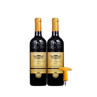 法国进口红葡萄酒750ml*2只