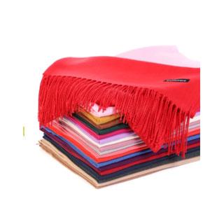 冬季韩版大红色围巾