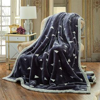 南极人拉舍尔加厚毛毯