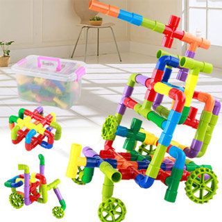 拼装插男孩子玩具72件装