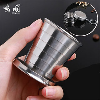不锈钢伸缩杯折叠杯子