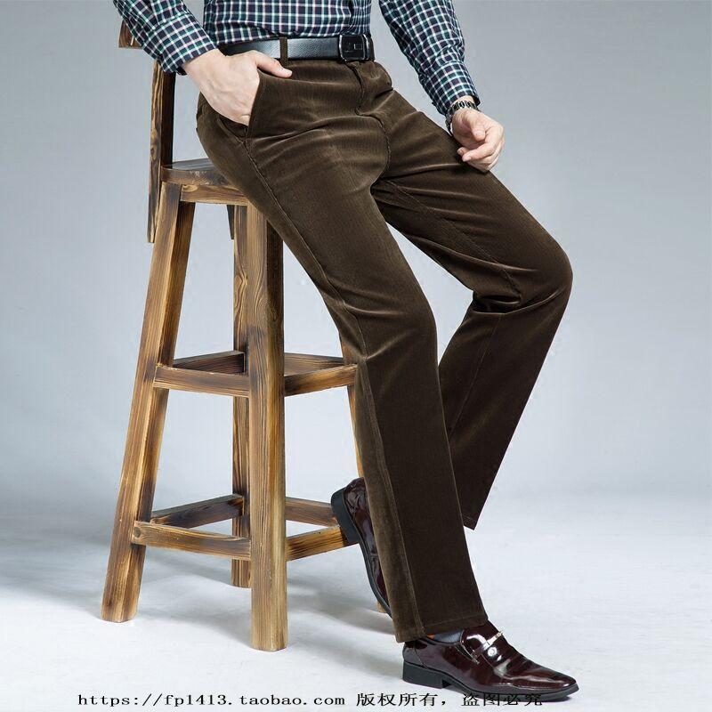 中老年宽松灯芯绒休闲裤