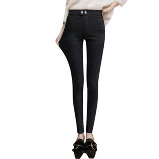 加绒加厚外穿小脚铅笔长裤