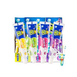 青蛙王子牙刷牙膏4套装
