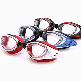 成人防水兒童泳鏡高清防霧