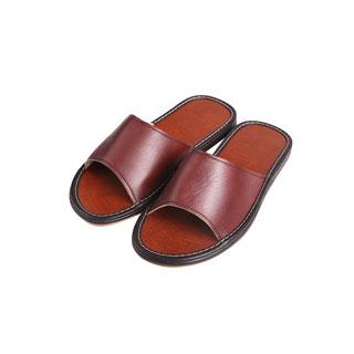 防滑牛筋底真皮凉拖鞋