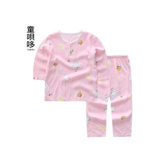 儿童睡衣绵绸棉绸套装