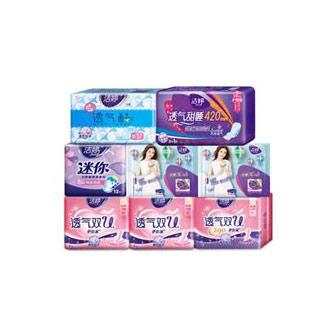 洁婷透气卫生巾82片