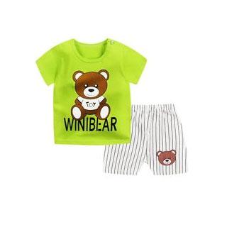 宝宝短袖套装纯棉婴儿衣服