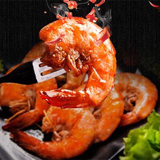 香辣对虾罐装虾球150g