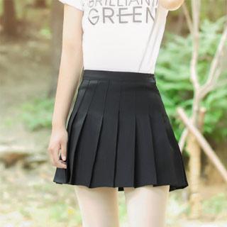 半身裙高腰短款百褶裙