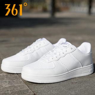 361度皮面防水透气板鞋