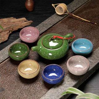 陶瓷茶具套装功夫茶具7件套