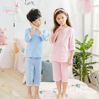 7分中袖儿童纯棉睡衣