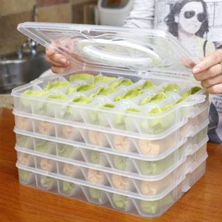 多功能饺子收纳盒4层