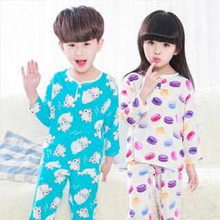 儿童夏季睡衣棉绸套装