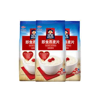 桂格即食燕麦片1000g*3袋