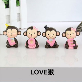 LOVE猴创意汽车摇头摆件