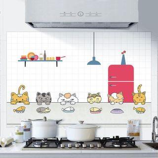 大号厨房防油贴纸3片