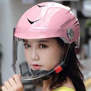 男女四季电动摩托车安全帽