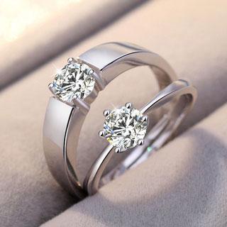 欧美时尚简约情侣戒指首饰