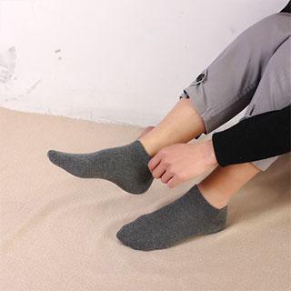 纯色棉袜低帮短筒15双