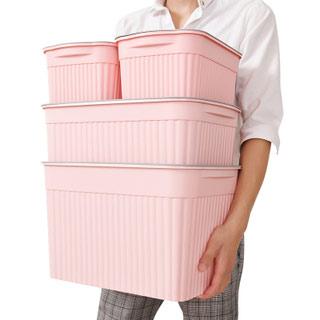有盖塑料整理收纳箱四件套