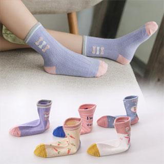红豆学生中筒袜5双装