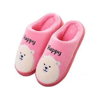 厚底冬季可爱棉拖鞋