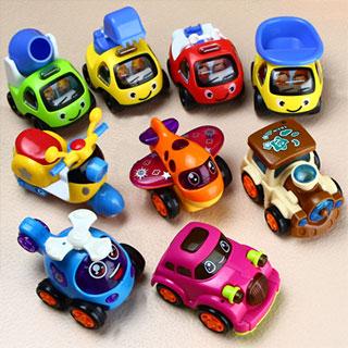 回力车惯性车玩具套装9只