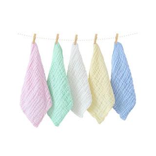 纯棉婴儿口水巾*5条装