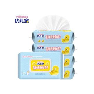 幼儿宝婴儿湿巾80抽*5包