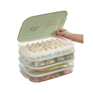饺子食物收纳盒4层1盖
