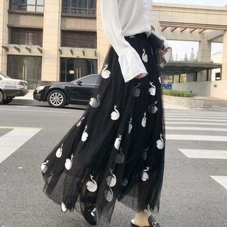 网纱半身裙中长款仙女裙