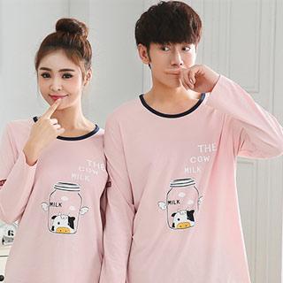 韩版情侣睡衣家居服套装