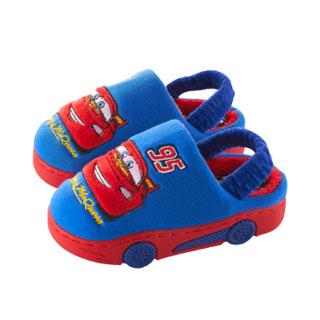 迪士尼卡通汽车儿童棉拖鞋