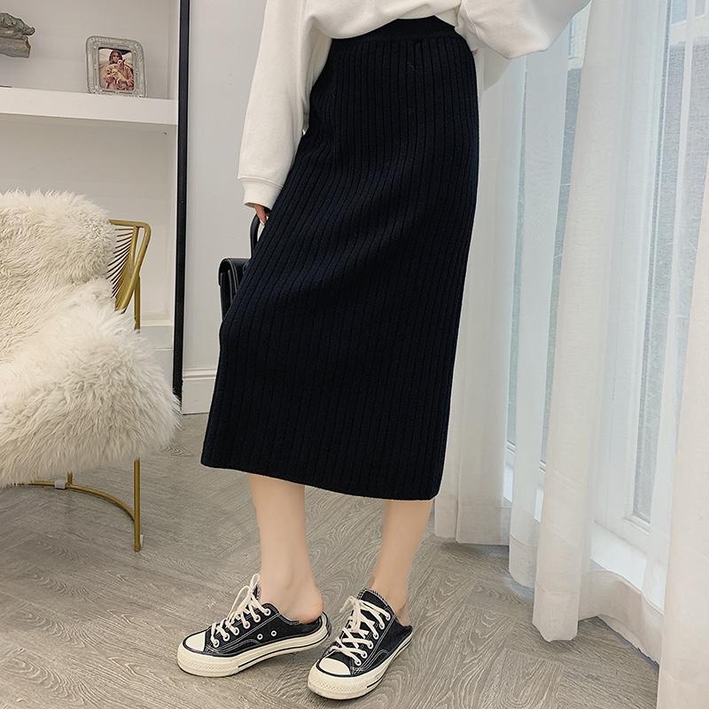 百搭針織半身裙顯瘦