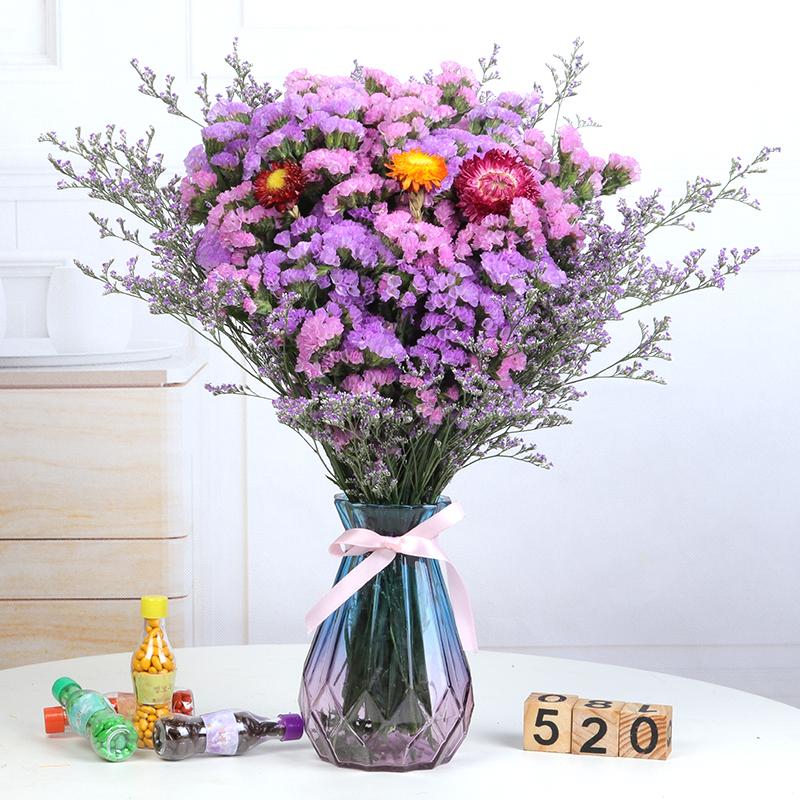 帶花瓶勿忘我干花花束