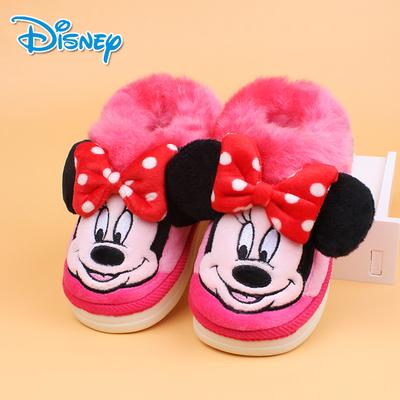 迪士尼卡通兒童防滑棉拖鞋