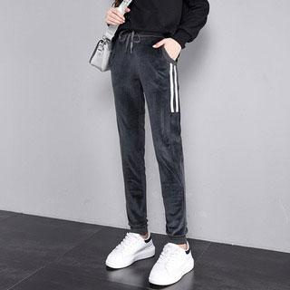 金絲絨加厚保暖韓版哈倫褲