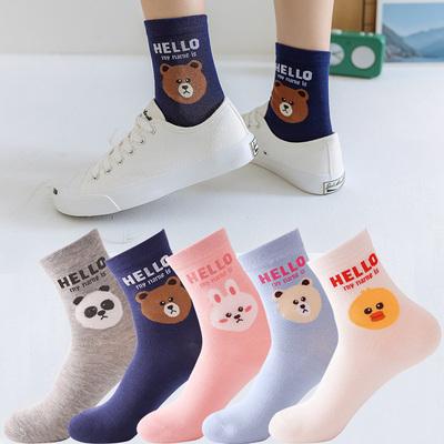 韓版中筒襪女襪10雙