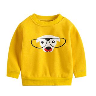 2019新款儿童加绒加厚卫衣男中小童打底衫冬装绒衣男童保暖上衣厚