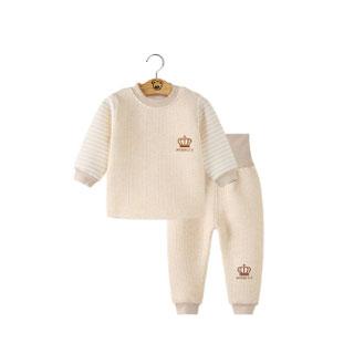 婴儿高腰夹棉护肚纯棉内衣