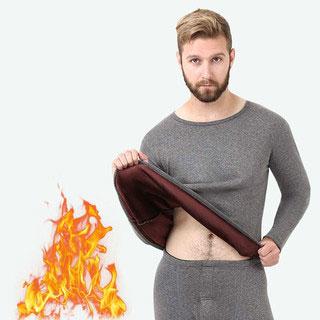 秋冬男女加厚保暖衣两件套